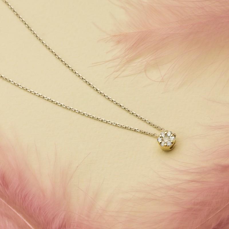 Подвеска из желтого золота с бриллиантами э0301пд04152800 (фото 4)