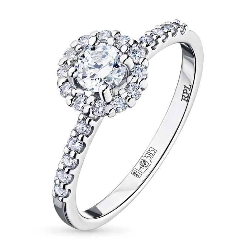 Кольцо из белого золота с бриллиантами э0901кц06165200