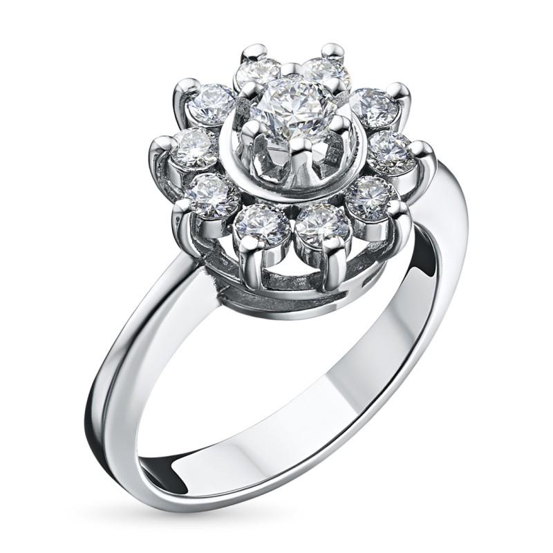 Кольцо из белого золота с бриллиантами э0901кц04202940