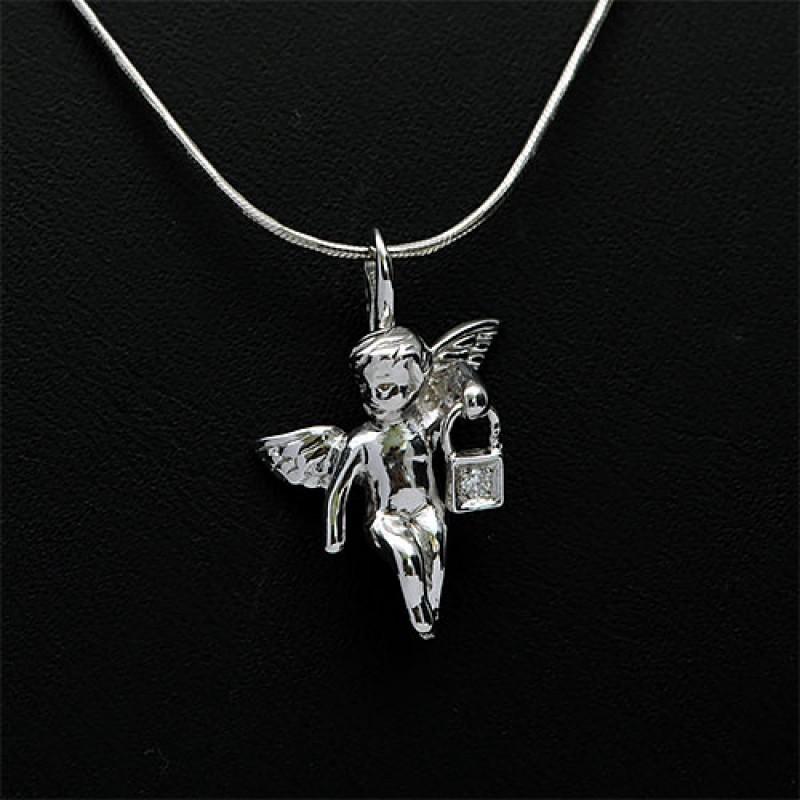 Подвеска из серебра с бриллиантом э0601пд04202712 (фото 6)