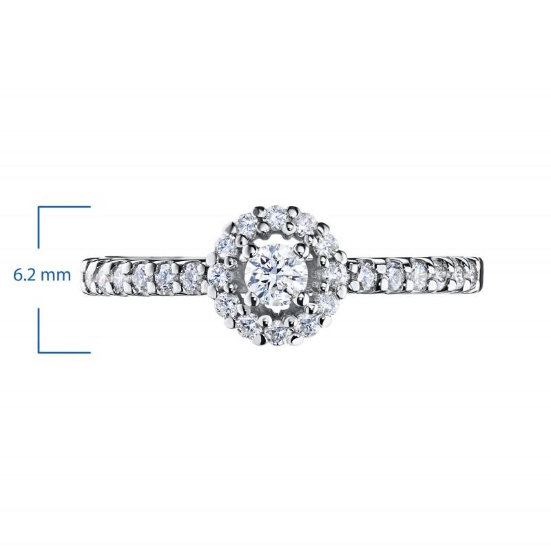 Кольцо из белого золота с бриллиантами э0901кц08189400 (фото 2)