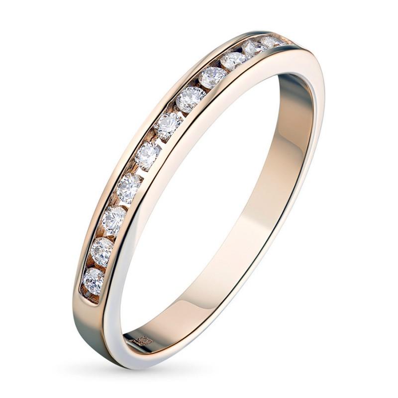 Кольцо из красного золота с бриллиантом э0201кц04151900