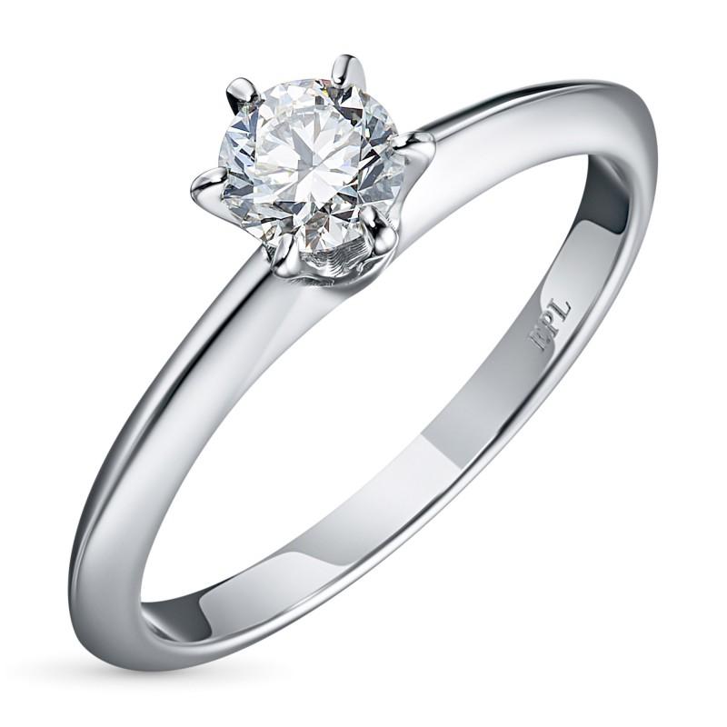 Кольцо из белого золота с бриллиантом э0901кц06200856