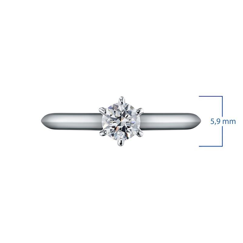 Кольцо из белого золота с бриллиантом э0901кц06200856 (фото 3)