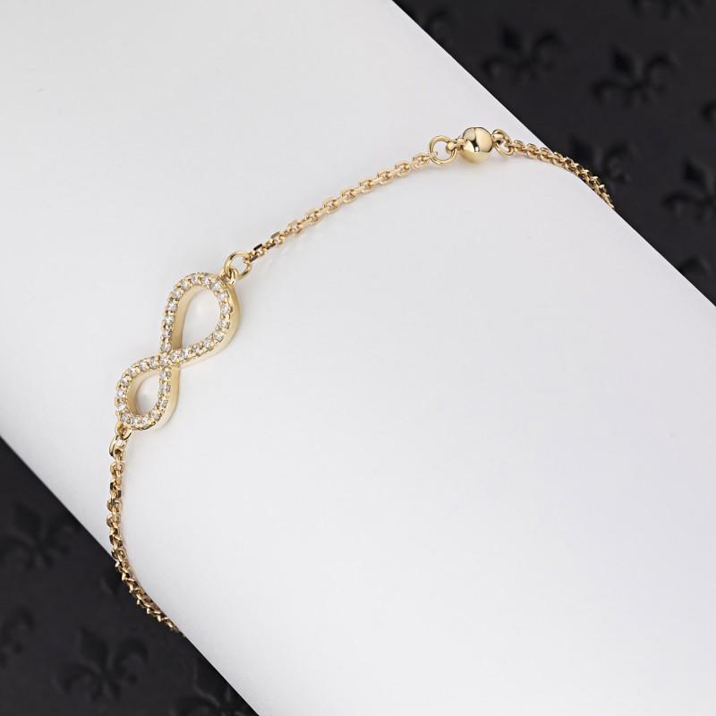 Браслет из желтого золота с бриллиантами э0301бр04201147 (фото 4)