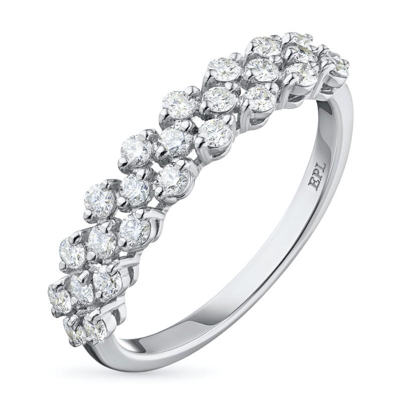 Кольцо из белого золота с бриллиантом э0901кц08160900