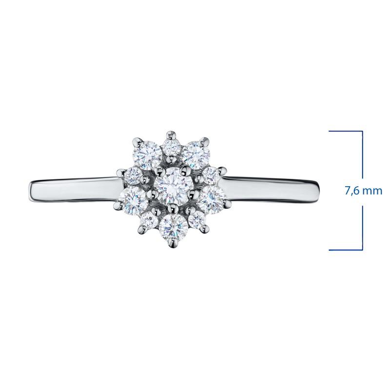 Кольцо из белого золота с бриллиантами э0901кц10177200 (фото 2)