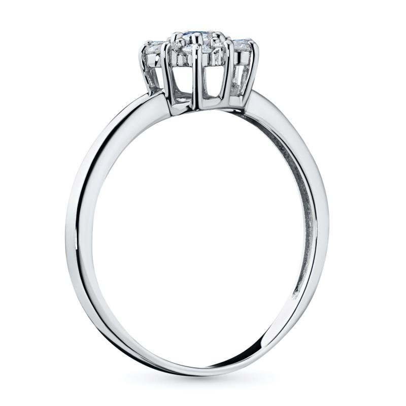 Кольцо из белого золота с бриллиантами э0901кц10177200 (фото 4)