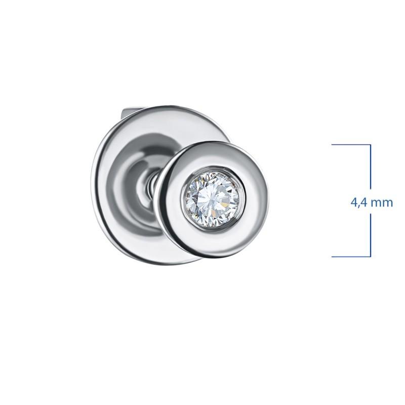Пусеты из серебра с бриллиантом э0601пс12151100 (фото 2)