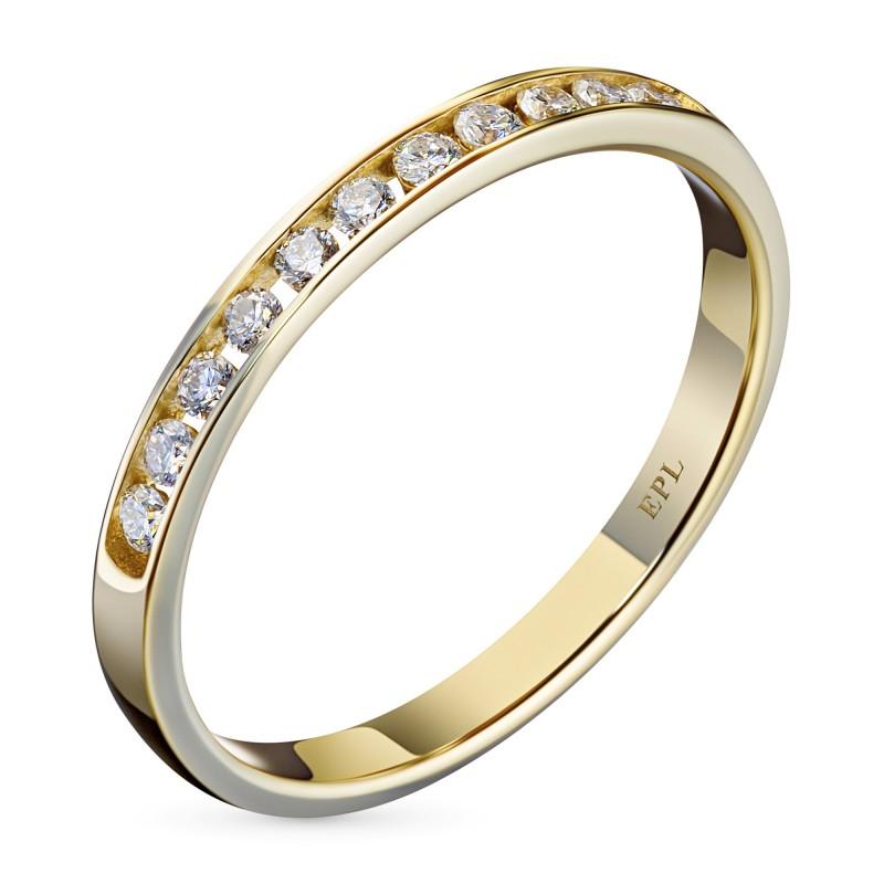 Кольцо из желтого золота с бриллиантом э0301кц04151900