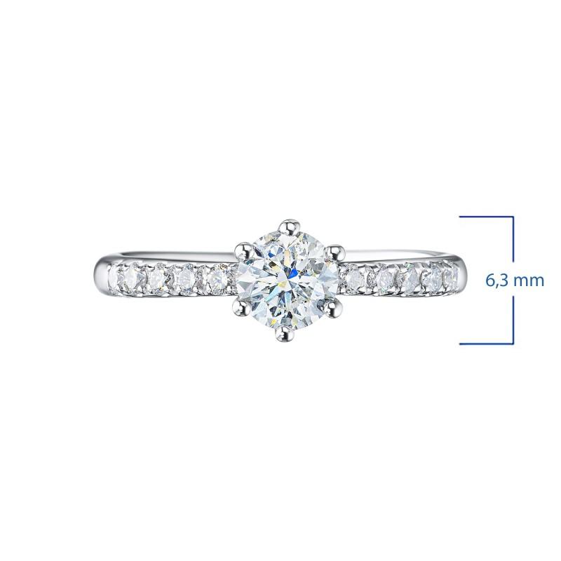 Кольцо из белого золота с бриллиантами э0901кц06210022 (фото 3)