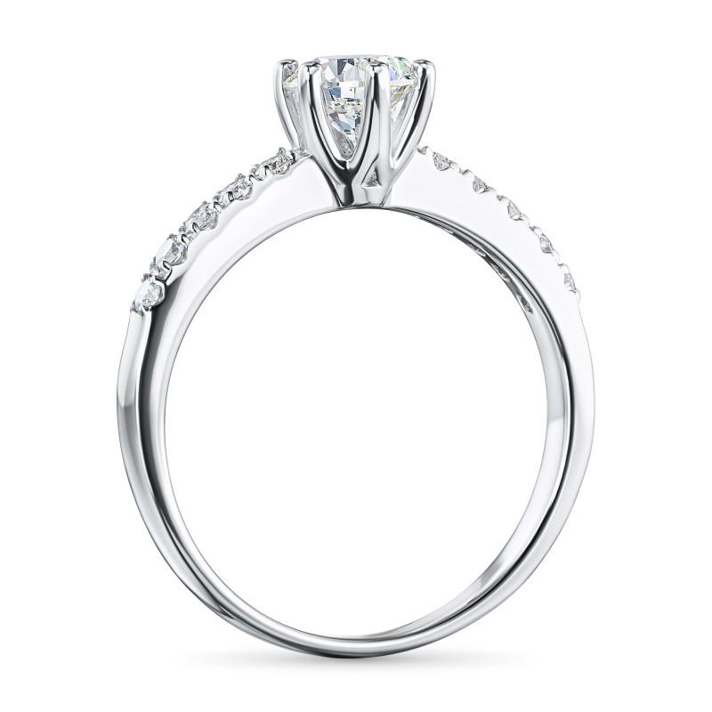 Кольцо из белого золота с бриллиантами э0901кц06210022 (фото 4)