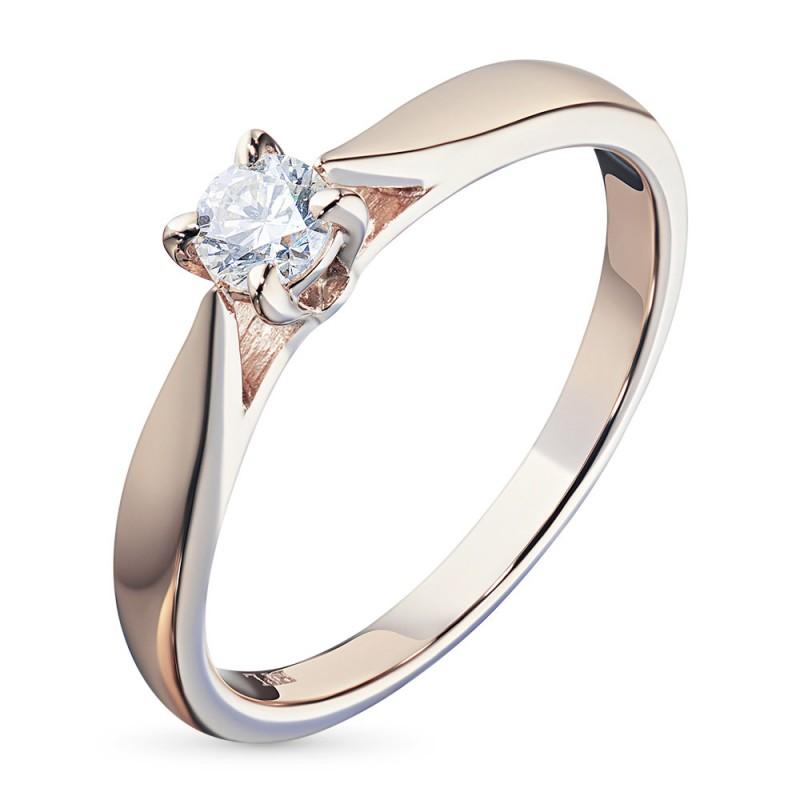 Кольцо из красного золота с бриллиантом э0201кц10151500