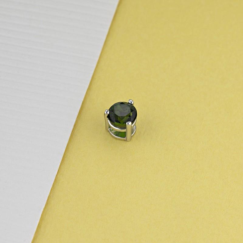 Подвеска из серебра с хромдиопсидом э0608пд04202597 (фото 4)