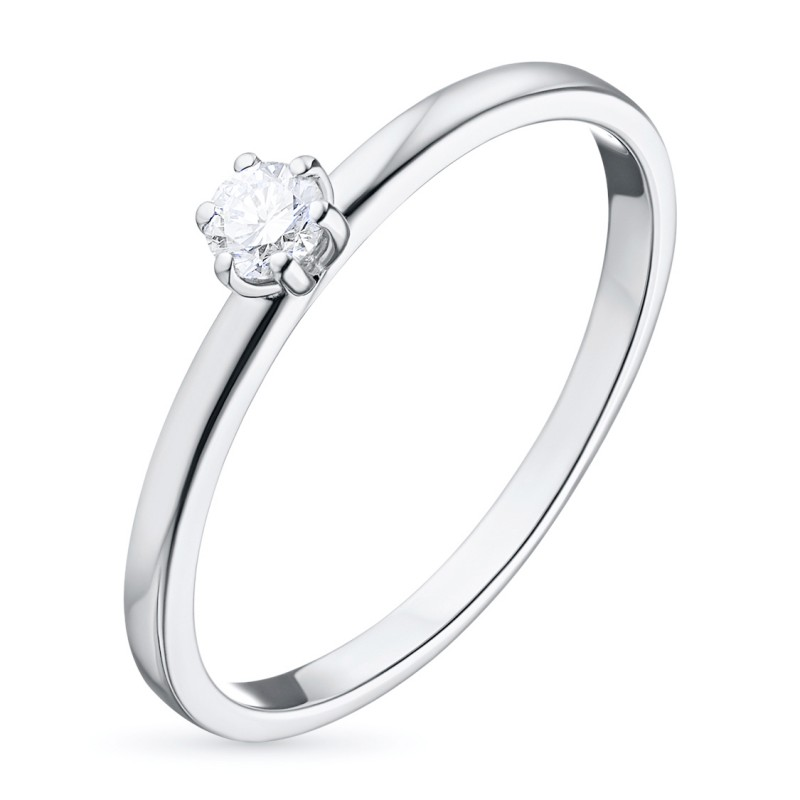 Кольцо из белого золота с бриллиантом э0901кц04160600