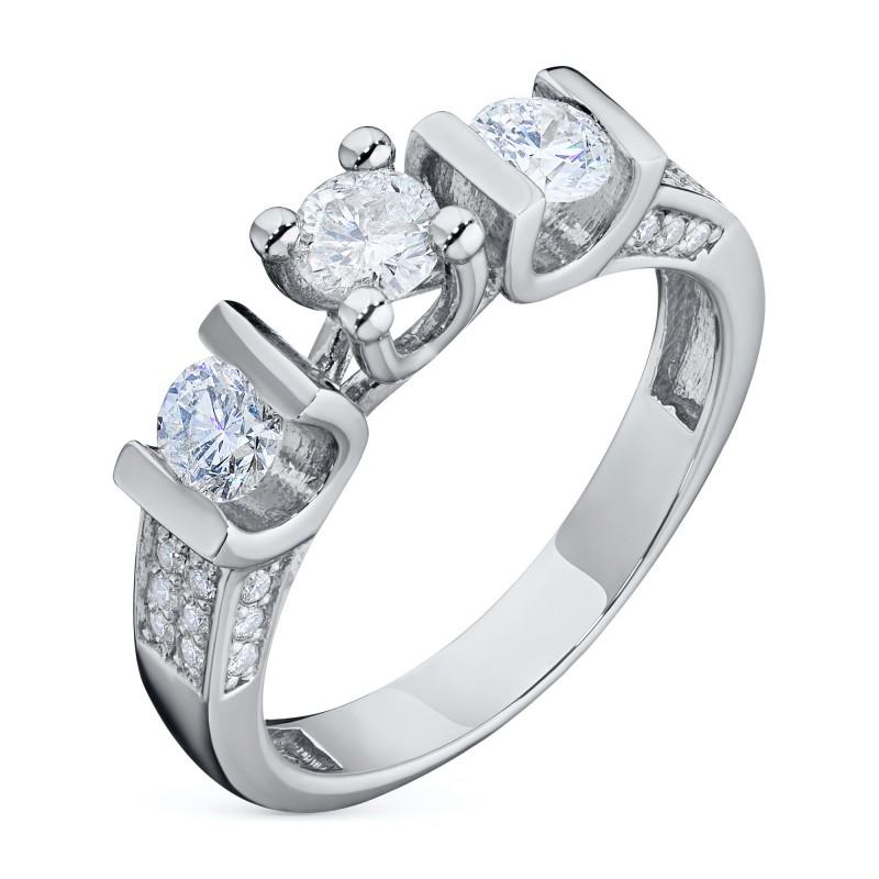 Кольцо из белого золота с бриллиантами э0901кц10131800