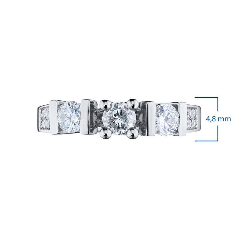 Кольцо из белого золота с бриллиантами э0901кц10131800 (фото 3)
