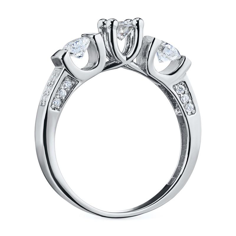 Кольцо из белого золота с бриллиантами э0901кц10131800 (фото 4)