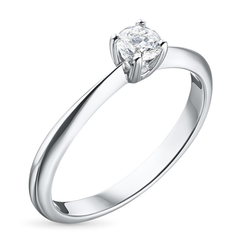 Кольцо из белого золота с бриллиантом э0901кц04164200