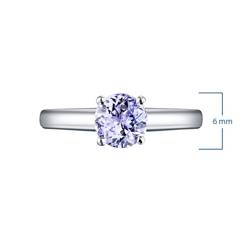 Кольцо из серебра с танзанитом э0608кц11102400 (фото 2)