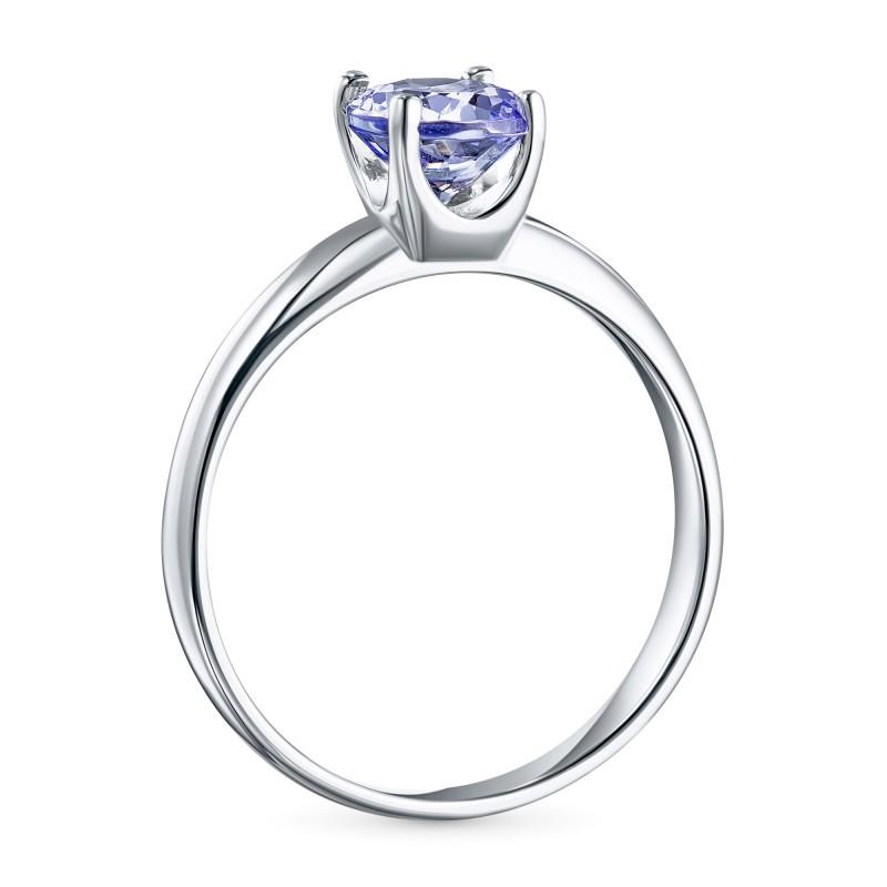 Кольцо из серебра с танзанитом э0608кц11102400 (фото 4)