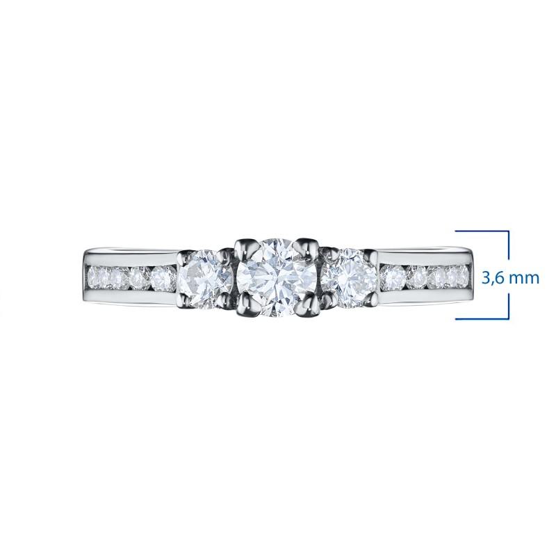 Кольцо из белого золота с бриллиантами э0901кц02163500 (фото 3)