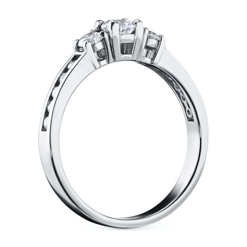 Кольцо из белого золота с бриллиантами э0901кц02163500 (фото 4)