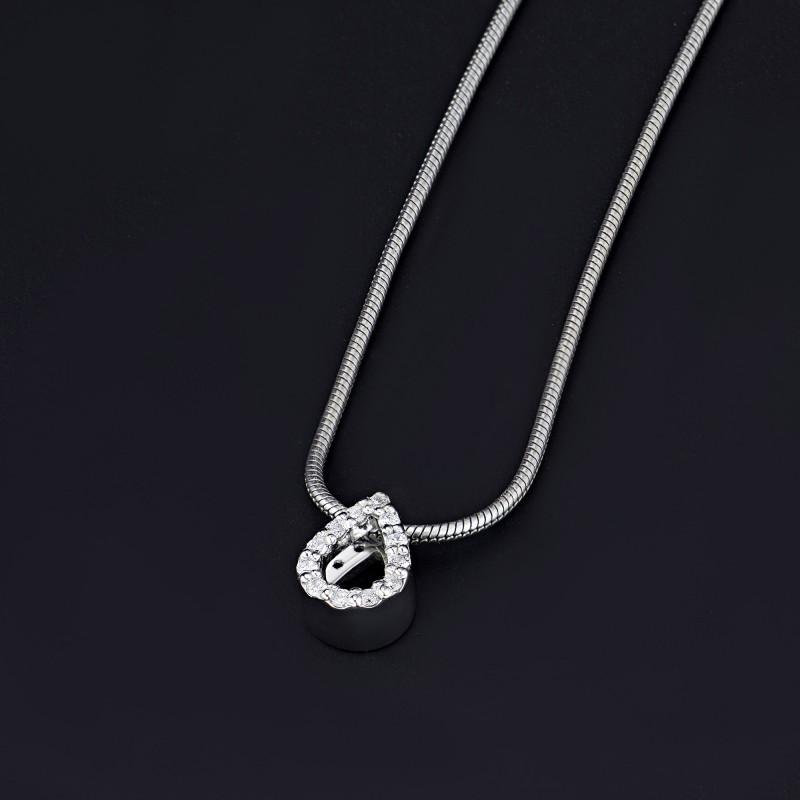 Подвеска из белого золота с бриллиантом э0901пд07169500 (фото 4)