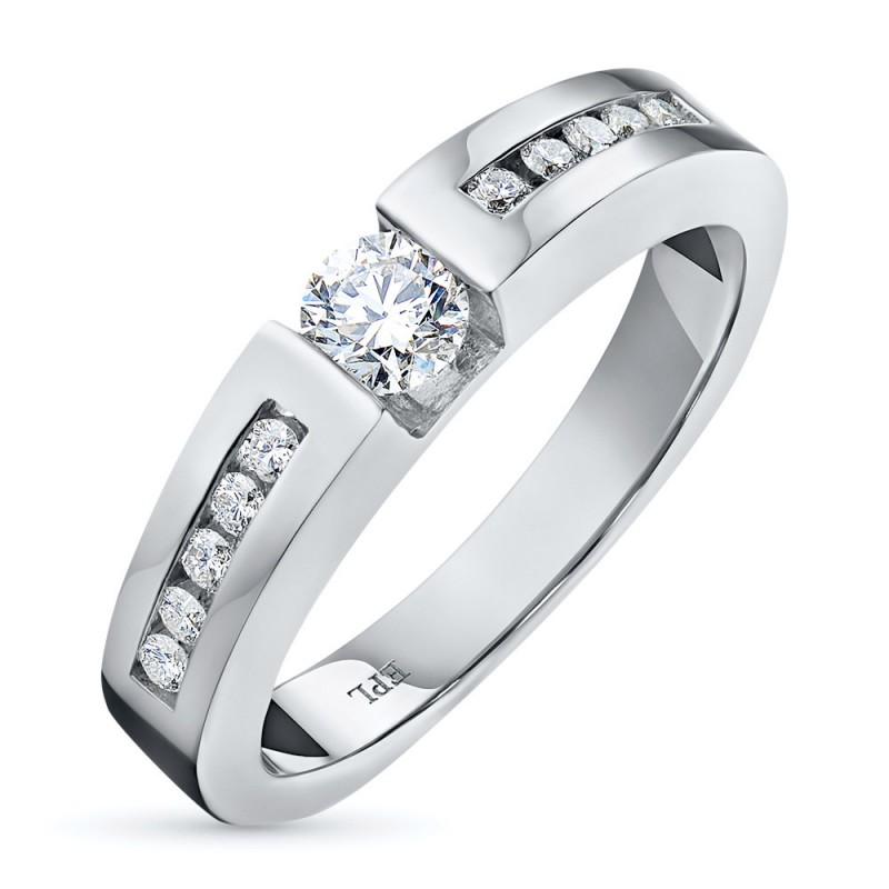 Кольцо из белого золота с бриллиантами э0901кц05150600