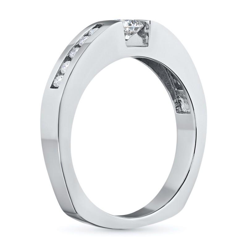 Кольцо из белого золота с бриллиантами э0901кц05150600 (фото 4)