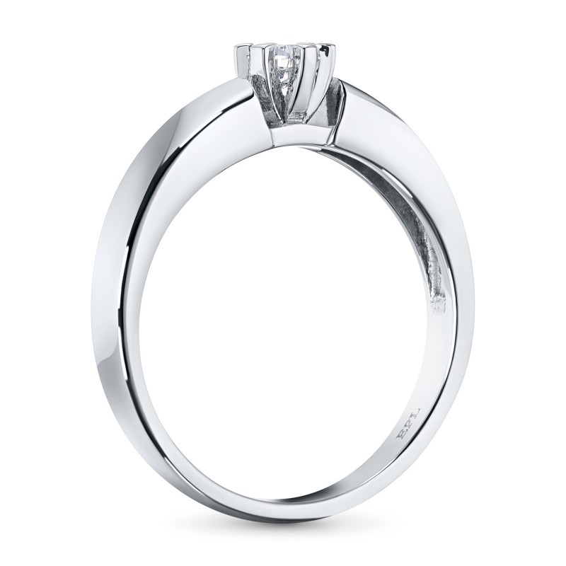 Кольцо из белого золота с бриллиантом э0901кц08070700 (фото 4)
