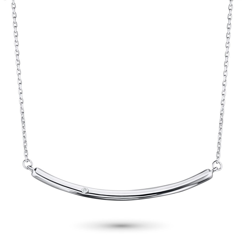 Колье из серебра с бриллиантом э0601кл11181300
