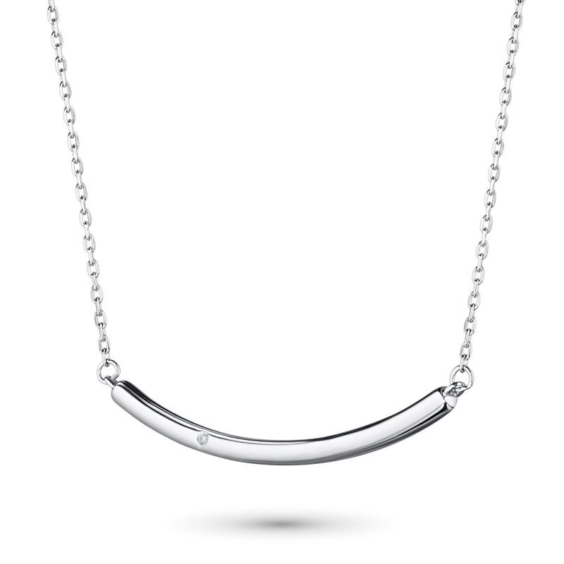 Колье из серебра с бриллиантом э0601кл11181300 (фото 2)