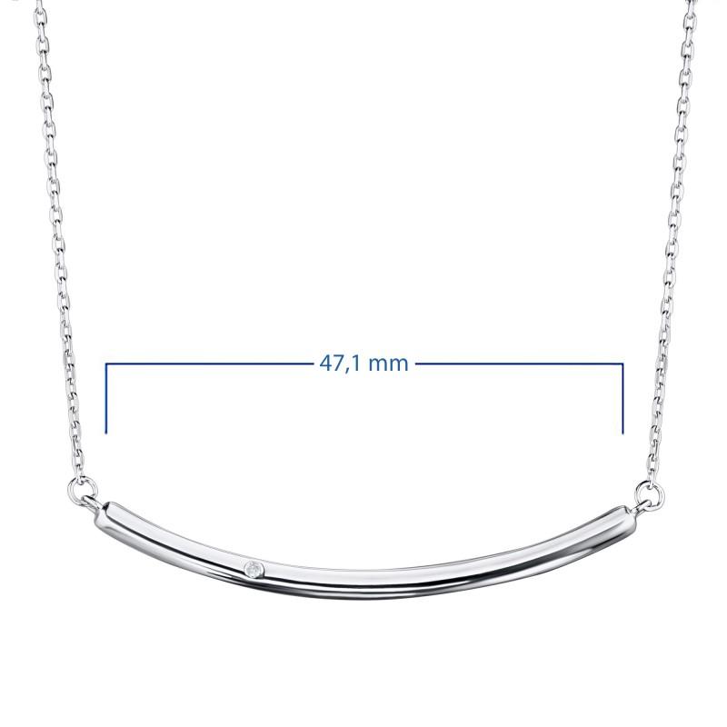 Колье из серебра с бриллиантом э0601кл11181300 (фото 3)