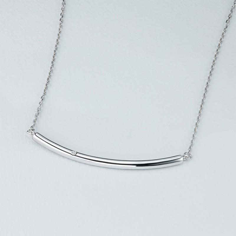 Колье из серебра с бриллиантом э0601кл11181300 (фото 4)