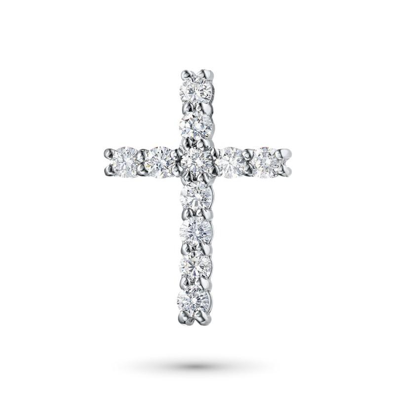 Подвеска из белого золота с бриллиантом э0901пд11159100