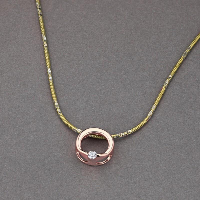 Подвеска из красного золота с бриллиантом э0201пд10173500 (фото 4)