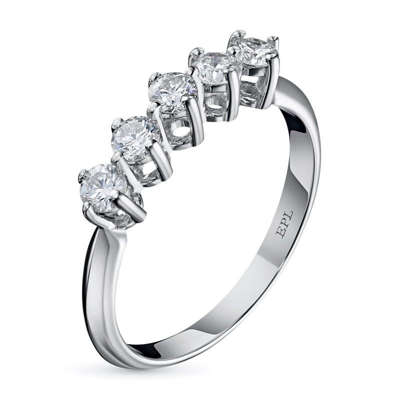 Кольцо из белого золота с бриллиантом э0901кц03183700