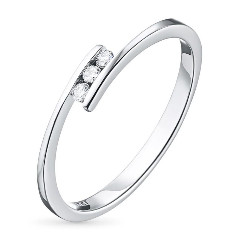 Кольцо из серебра с бриллиантом э0601кц04152500