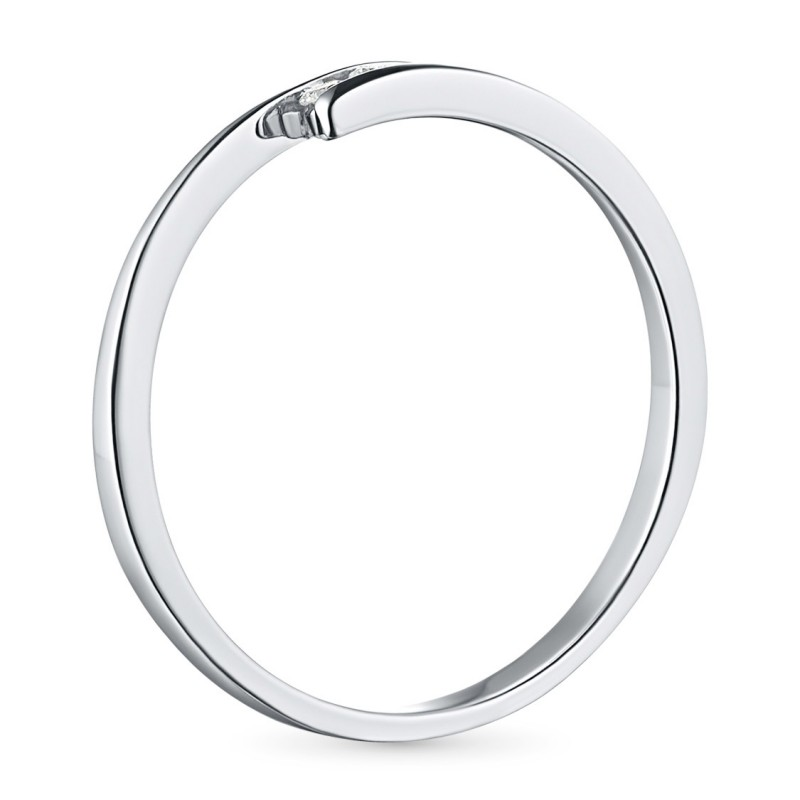 Кольцо из серебра с бриллиантом э0601кц04152500 (фото 4)