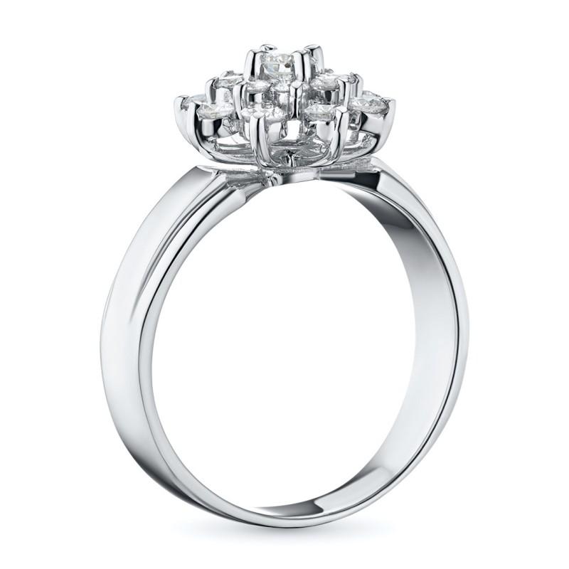 Кольцо из белого золота с бриллиантами э0901кц09160400 (фото 4)
