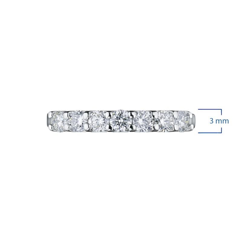 Кольцо из белого золота с бриллиантом э0901кц08151900 (фото 2)