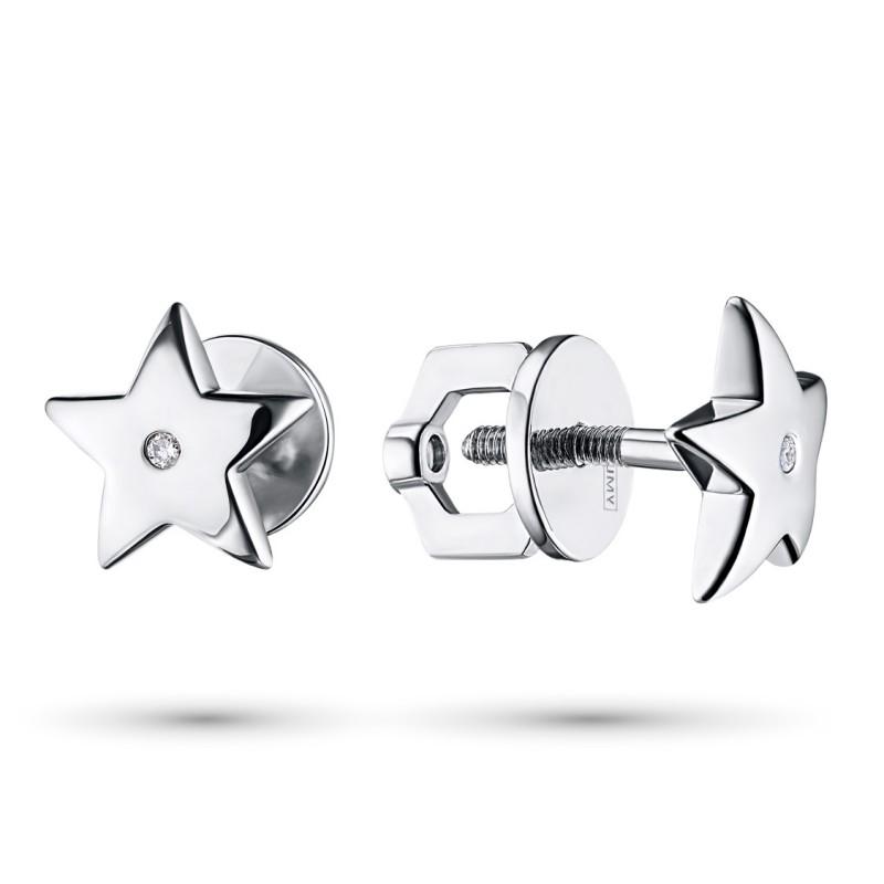 Пусеты из серебра с аметистом э0607пс10151300