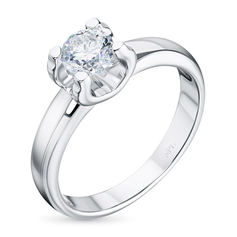 Кольцо из белого золота с бриллиантом э0901кц06200855
