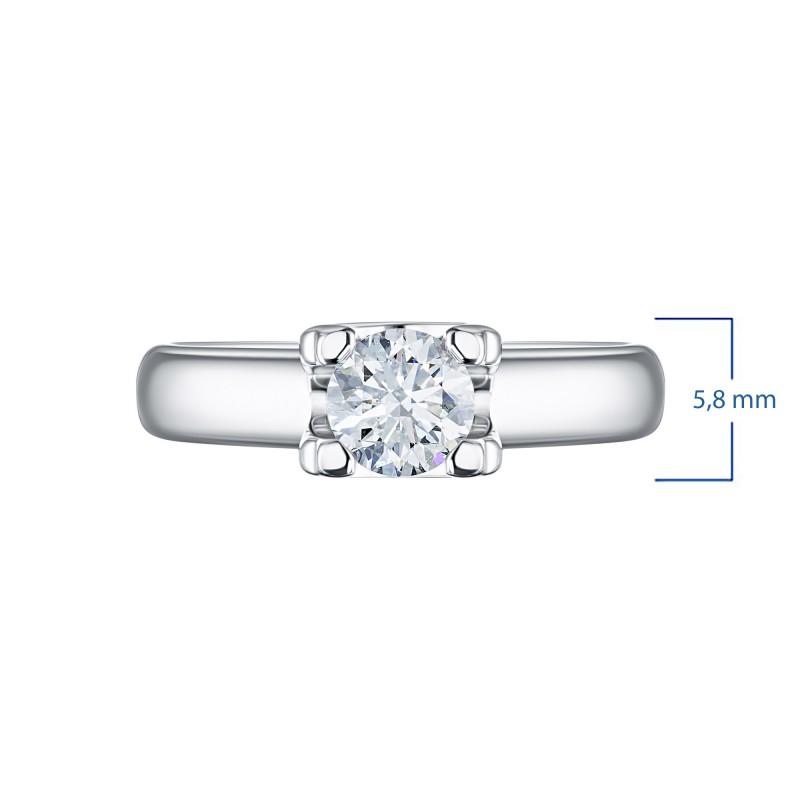 Кольцо из белого золота с бриллиантом э0901кц06200855 (фото 3)