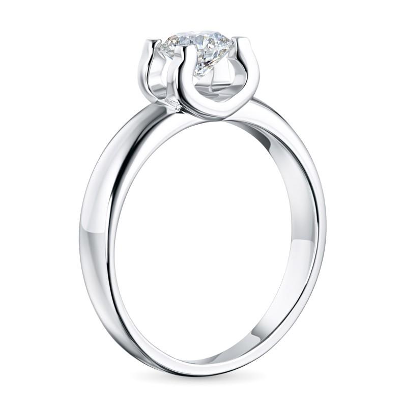 Кольцо из белого золота с бриллиантом э0901кц06200855 (фото 4)