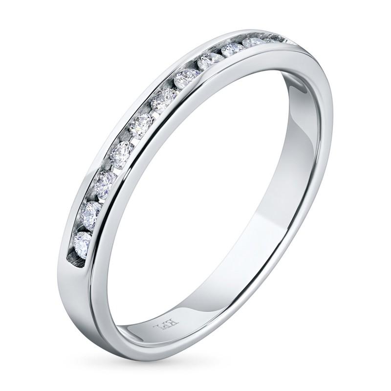 Кольцо из белого золота с бриллиантом э0901кц04151900