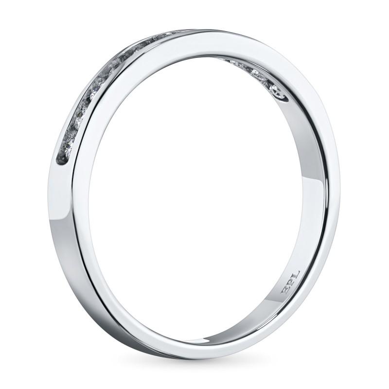 Кольцо из белого золота с бриллиантом э0901кц04151900 (фото 4)