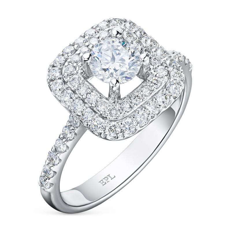 Кольцо из белого золота с бриллиантами э0901кц06200908