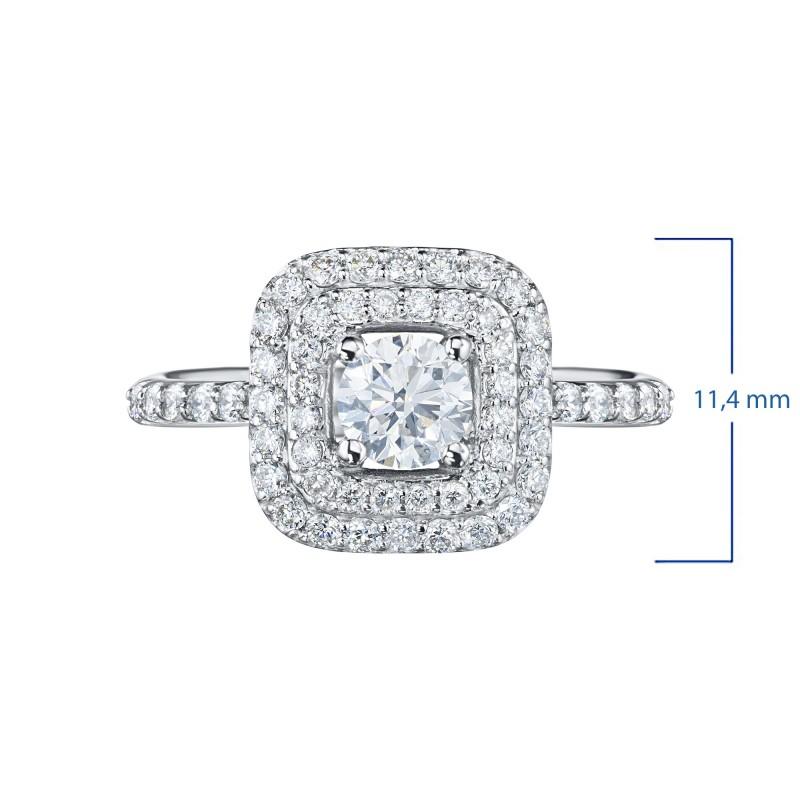 Кольцо из белого золота с бриллиантами э0901кц06200908 (фото 3)